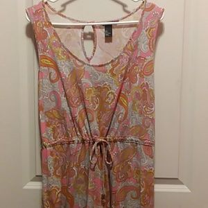 H&M Tank Draw String Paisley Dress